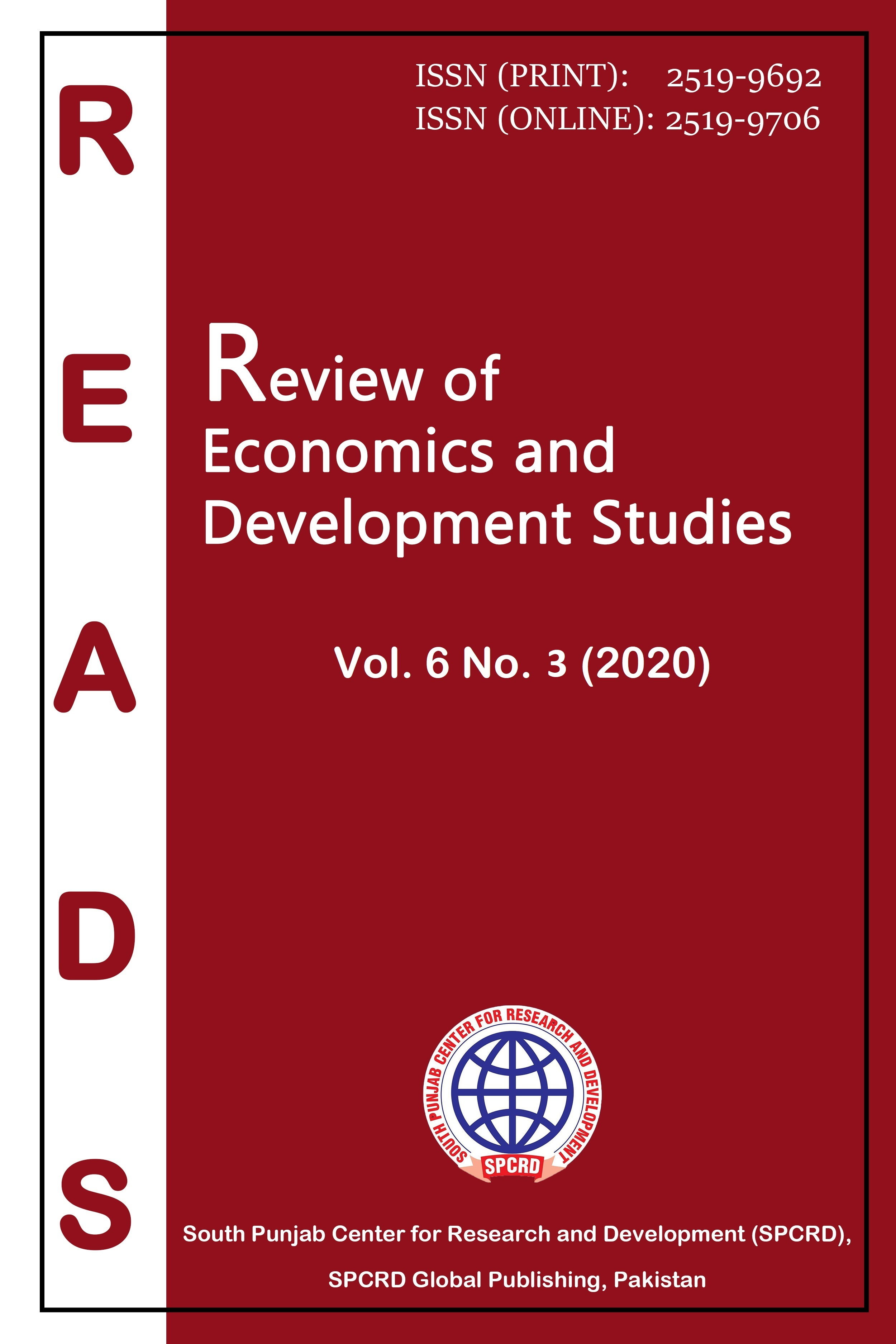 View Vol. 6 No. 3 (2020): Review of Economics and Development Studies (READS)